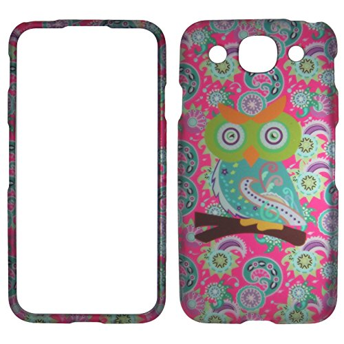 2D Owl on Paisley Paisley LG Optimus G Pro E980 Case Cover Hard Case Snap-on Cases Rubberized Touch Protector Faceplates