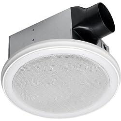 HOMEWERKS WORLDWIDE 7130-02-BT Bluetooth Bath Fan & Speaker with LED Light and Blue Nightlight