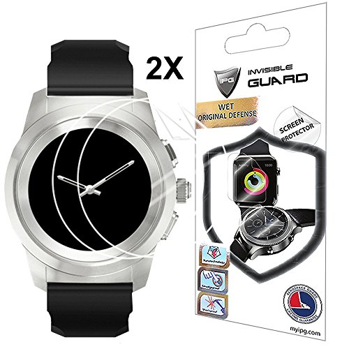 Protective Screen Guard - For MyKronoz ZeTime 44 mm SMARTWATCH Screen Protector with Lifetime Replacement Warranty Invisible Protective Screen Guard - Smooth / Self-healing / Bubble -Free By IPG
