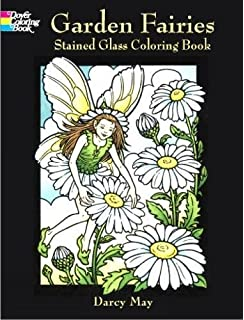Garden Fairies Stained Glass Coloring Book Dover