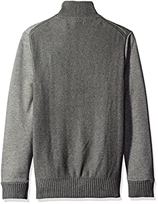 Calvin Klein Jeans Men's Quarter Zip Ottoman Tube Mixed Guage Sweater