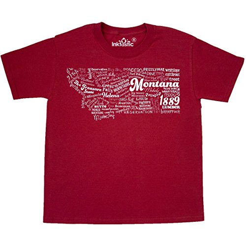 inktastic - Montana State Word Salad Youth T-Shirt Youth Small (6-8) Red 30b40