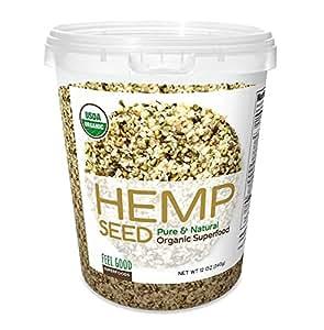 Amazon.com: FEEL GOOD Premium Organic Hemp Seed Superfood ...