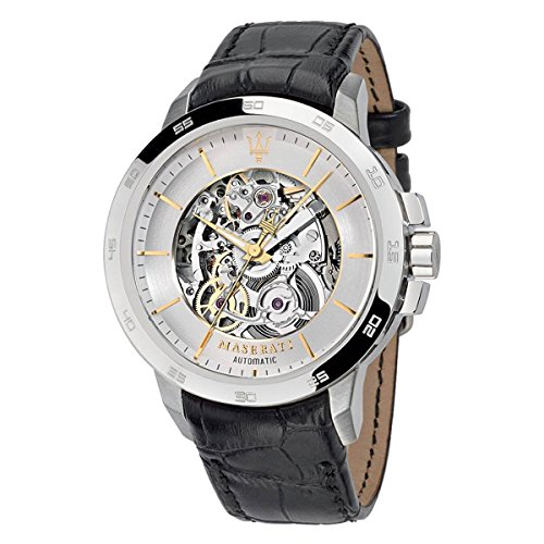 Maserati ingegno Mens Analog Automatic Watch with Leather Bracelet R8821119002