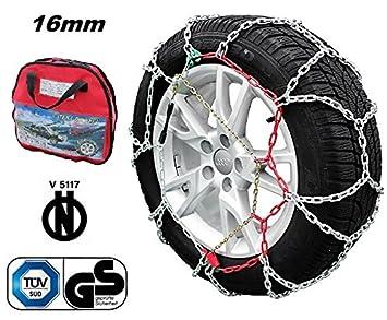 Cadenas para nieve 4x4 con homologación Önorm. 16 mm: Amazon.es: Coche y moto