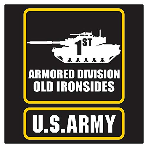 US Army 1st Armored Div M-60 Old Iron Die Cut ()