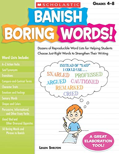 Top 8 best banish boring words gr 4-8 book 2020