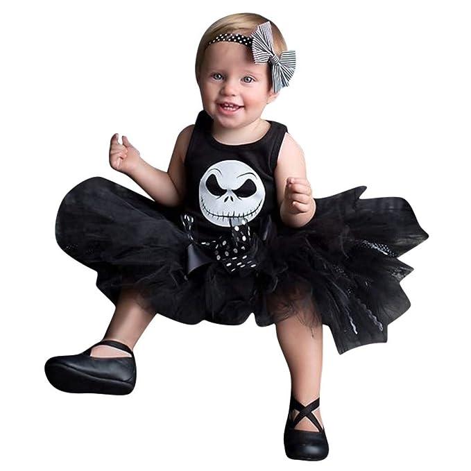 MAYOGO Halloween Vestido Bebe sin Manga de 0 a 6 Meses Bebe ...