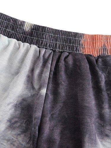 SweatyRocks Women's Summer Casual Tie Dye Multicolor Print Lounge Shorts (M=S(US 4-6), Black) by SweatyRocks (Image #2)