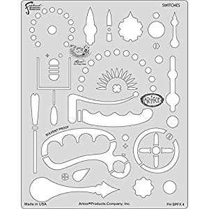 Artool Freehand Airbrush Templates, Steam Punk Fx Template – Switches by Iwata-Medea