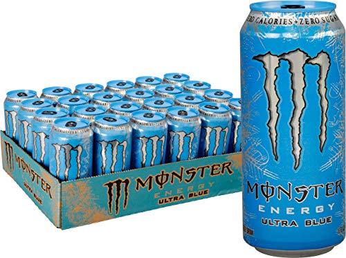 monster energy  ultra blue  sugar free energy drink  16