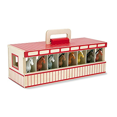 Melissa & Doug Take-Along Show-Horse Stable Play Set