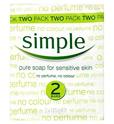 Simple Pure Soap Bar For Sensitive Skin 2 X 125G