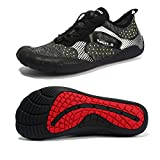 Maniamixx Mens Water Shoes Barefoot Shoes Women for Hiking Jogging Surfing(Black,45EU)
