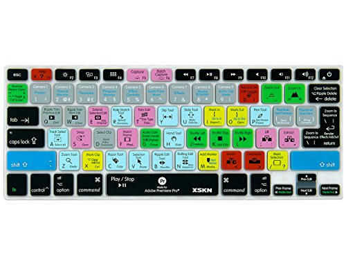 - XSKN Adobe Premiere Shortcuts Keyboard Skin Silicone Hotkeys Keyboard Cover for Macbook Air 13 & Macbook Pro 13 15 17, Retina (US / European ISO Keyboard)