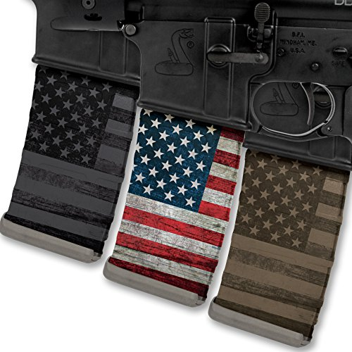 Leaf Mission Pattern (Rapid Wraps Mag Wraps - Patriot Flag Colors Set (3 Pack-COLOR/FDE/Blk))