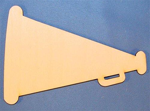 CMMegaphone Unpainted Megaphone Wood Cutout / Package of 10 Megaphone Bag Tag