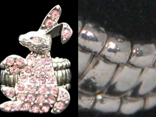 [From the Heart Pink Crystal Rhinestone Bunny Stretch Ring.One Size Fits Most.Precious Little Bunny is Sitting Up on his Rear Legs.Celebrate Easter with this Cute Ring.Fun Sweet Gift for Anyone who likes Rabbits, Easter,the Easter Bunny,or the Story of Peter CottonTail:)Gift] (Who Is Peter Cottontail)