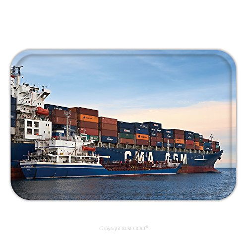 Russian Costumes Designer (Flannel Microfiber Non-slip Rubber Backing Soft Absorbent Doormat Mat Rug Carpet Bunkering Tanker Russian Island Container Ship Cma Cgm Company Nakhodka Bay East Japan Sea 293659262 for Indoor/Outdoor)