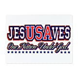 Glass Cutting Board Large USA Jesus Saves Nation Under God