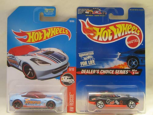 Hot Wheels HW Rescue '14 Corvette Stingray & Dealers Choice '63 Corvette Die Cast 1/64 Scale 2 Car Bundle!