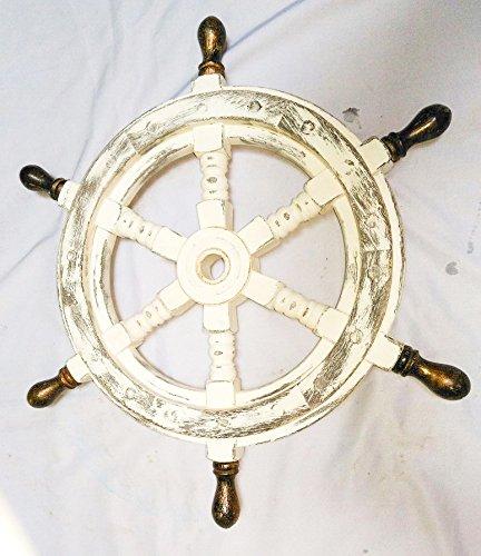 Wheel Antique Ships (Antique Whitewashed 16
