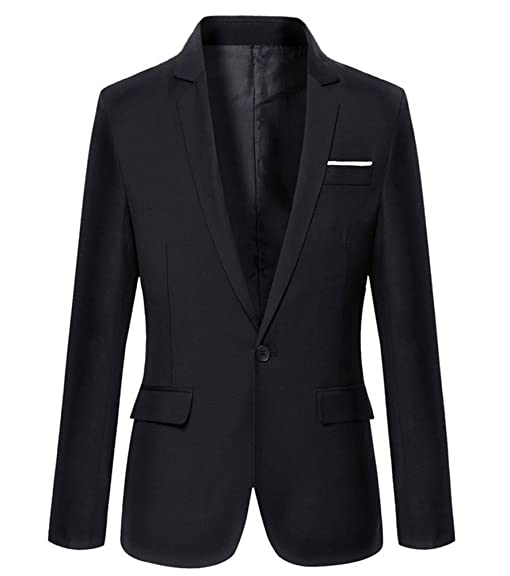 Mens Slim Fit Casual One Button Blazer Jacket at Amazon Men's ...