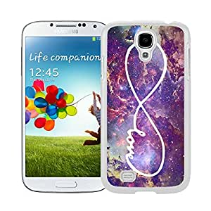 Popular Samsung Galaxy S4 Case Infinity Love Galaxy Designs Durable Soft Rubber Silicone White Phone Cover Protector