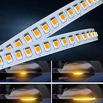 TONSEE Universal Car 2x Amber SMD 13LED 12V Rearview Side Mirror Turn Signal Lights