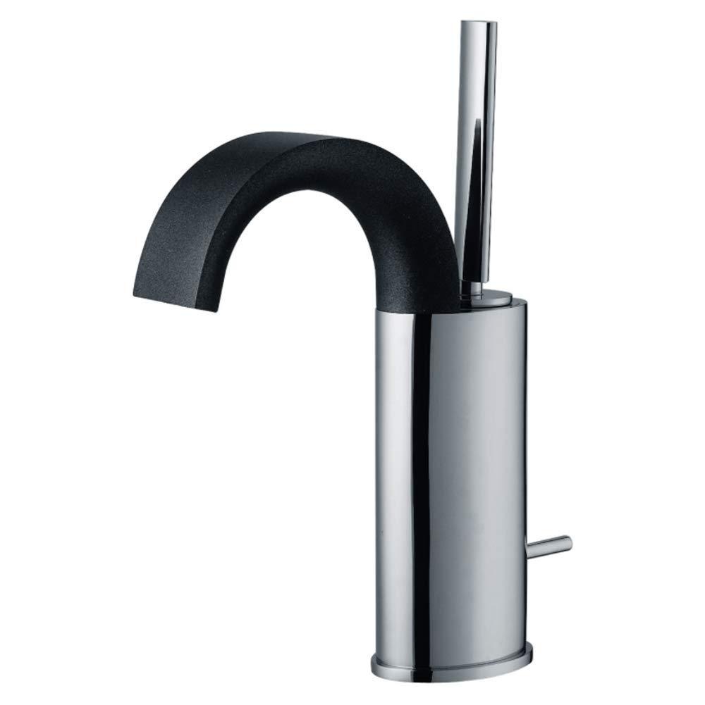 Edelstahl Küchenarmatur Wasserhahn Einhand Mischer Spültischarmatur 360° Drehbarkupferbassin Kalt Und Heiß Mischbatterie Schwarz Silber Einloch