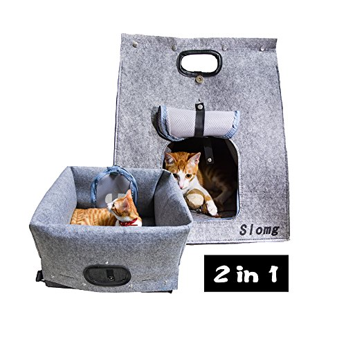 Soft Sided Pet Travel Carrier Tote, Airline Approved Pet Animal Carrier Purse, Portable Collapsible Pet Carrier, Adjustable Pet Sling Shoulder Bag, Soft Backpack Cat Dog Carrier Up to 20 Lbs, Gray