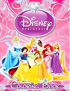 Disney Princess Coloring Book For Kids And Adults Activity Girls Great