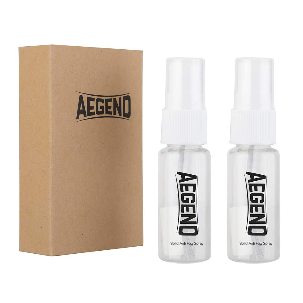 Aegend Anti Fog Spray for Swim Goggles Long Lasting Defogger for Dive Mask Paintball mask Ski Masks All Glasses Best Helper for Swimming Diving Paintball Skiing Safe On All Lenses 20ML 2 Pack