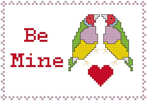 - Be Mine - Birds in Love Cross Stitch Chart: Whole cross stitch and backstitch only