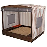 KidKraft 00 Cabana Sandbox, Oatmeal and White Stripes