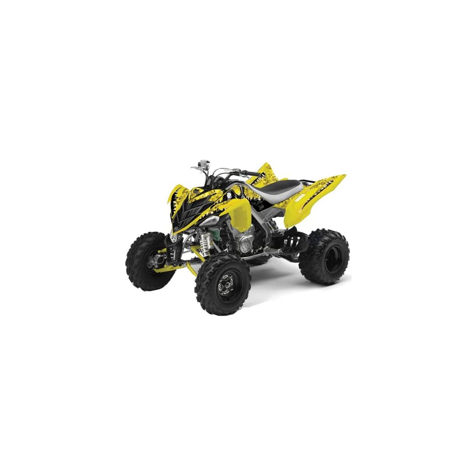 Yamaha Raptor 700 ATV Quad Graphic Kit   Reaper Yellow Automotive