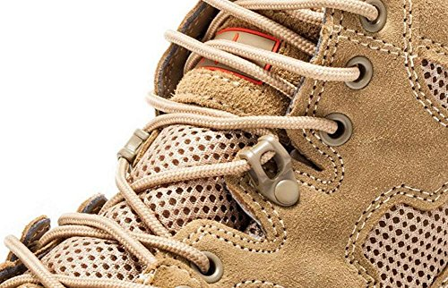 GLSHI Hombres Breathable Low Rise Tactical Botas Desert Botas 07 Botas de combate de cuero Deportes al aire libre Senderismo Zapatos sand color