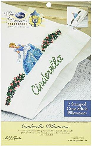 Textiles Stamped Pillowcase 30 Inch Cinderella