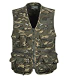 Soyoo Men's Cotton Camo Vest Multi Pockets Fishing Hunting Photography