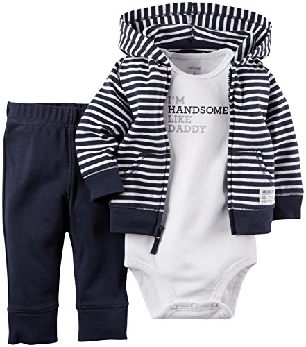 Carter's Baby Boys' 3 Piece Cardigan Set (Baby) - Navy Stripe - 12M
