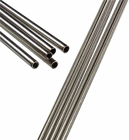 ChenXi Shop 4 Pieces OD 10mm x 5mm ID Stainless Pipe 304 Stainless Steel Capillary Tube Length 250mm