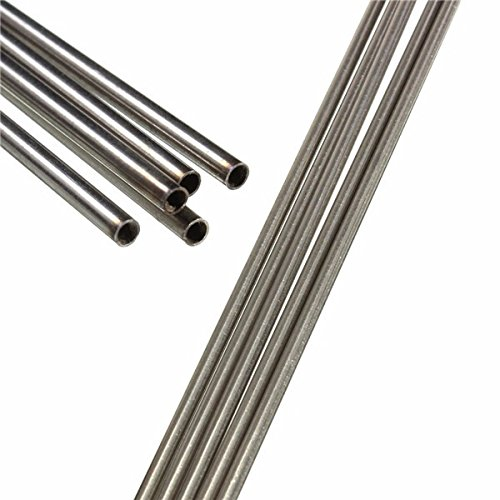 CynKen 10pcs OD 7mm x 5mm ID Stainless Pipe 304 Stainless Steel Capillary Tube Length 100mm