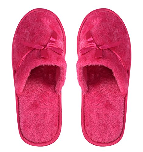 Couture Fuchsia Lined Relaxing House Nordic Slippers Peach Style Fleece Solid Womens 7W4dAwTxTn