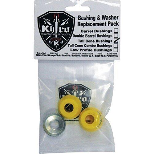 - Khiro Tall Cone Bushing/Wash Kit 92a Medium Hard Yellow by Khiro
