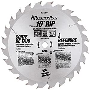 Vermont American 27316 10-Inch 60T Fine Cutoff Carbide Circular Saw Blade