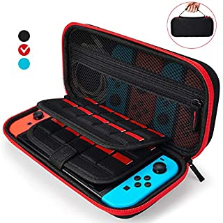 AURXONS Carrying Case for Nintendo Switch with 22 Games Cartridge, Protective Travel Carry Case Pouch for Nintendo Switch Console Accessories