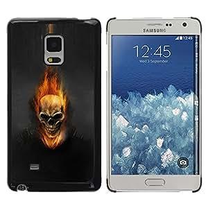 TopCaseStore / la caja del caucho duro de la cubierta de protección de la piel - Dark Flam Skull - Samsung Galaxy Mega 5.8 9150 9152