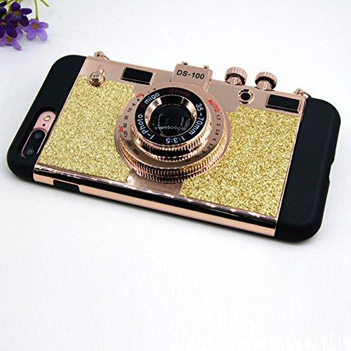 Zantec Funda protectora suave de la caja del teléfono de la cámara creativa 3D Funda de la cubierta de la PC + del silicón para Apple iPhone 6s, 7 más Dolado Para 7 Plus