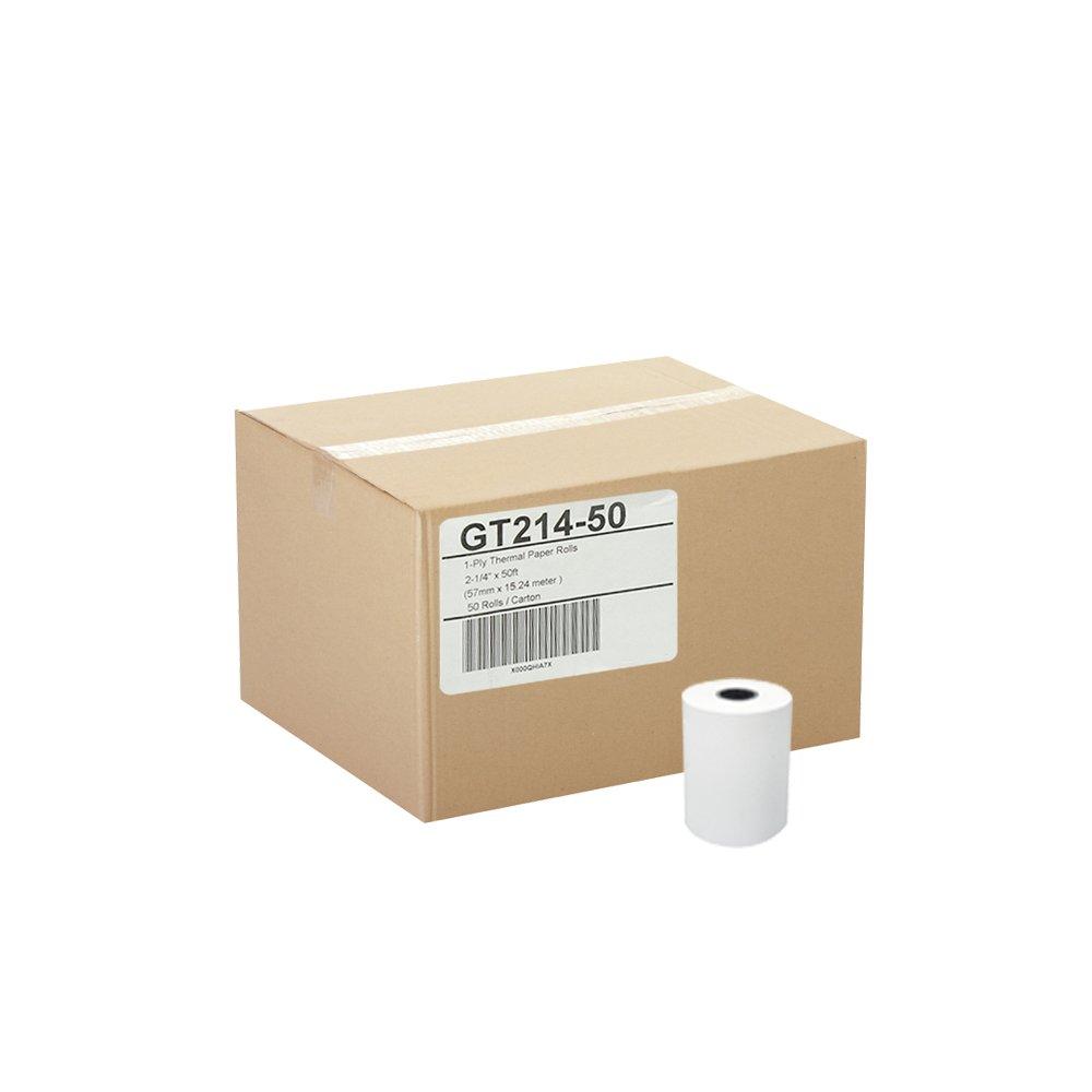 (50) Thermal Paper Rolls 2-1/4 X 50 Verifone Vx520 Ingenico ICT220 ICT250 FD400