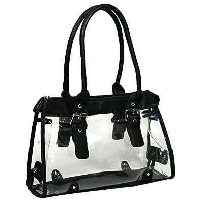 Amazon Com Clear Transparent Tote Purse Beach Bag Handbag